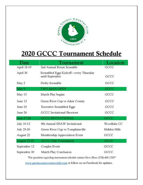 2020 GCCC Tournament Schedule 3.0